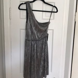Express one-shoulder silver dress. New with tags!